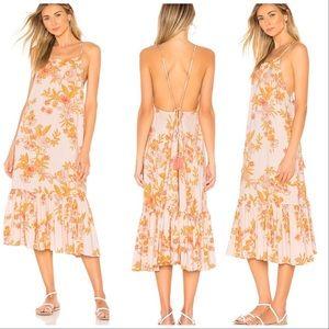 Tularosa haels  dress in pastel garden floral